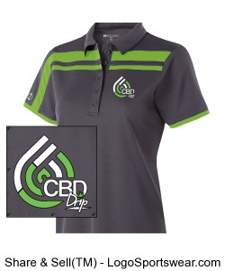 Ladies  Charge Polo Design Zoom